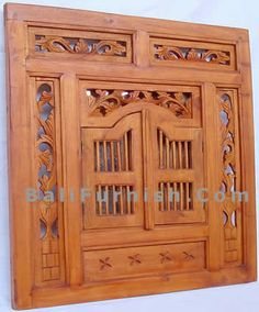 Carved Teak Wood Windows from Java Indonesia. Balinese Doors Traditonal Carved Wood Door and Window Teak Wood Bali Wooden Doors Indonesia. Woodworking Outdoor Furniture, Woodworking Projects, Window Mirror, Mirrors, Window Furniture, Wood Windows, Room Planning, Wood Plans, Entrance Doors