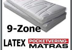 Pocketvering 9 Zone Latex ® Matrassen