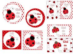 Kit Festa Joaninha  Todos os itens para decorar sua festa ou cha de bebe! R$ 50,00 Miraculous, Ladybug Party, Pretty Little, Hand Embroidery, Poster, Playing Cards, Birthday Parties, Printables, Baby Shower