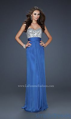 Beaded Strapless Prom Gown by La Femme at SimplyDresses.com