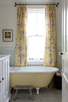 Hoping we can fit a painted claw foot tub in our guest bath!