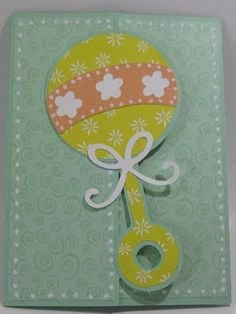 Cricut My Way: CCC # 43 Baby card with only white, yellow, green and orange