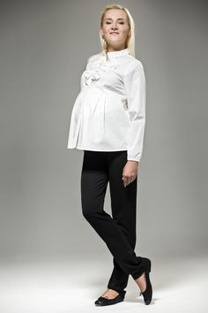 White Maternity Blouse