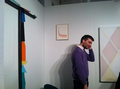 Artist Henrik Eiben and his work at Pablo's Birthday, Volta 2012