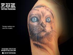 Retrato de un gato. De Yarda, en ZUK Tattoo Piercing de Lleida