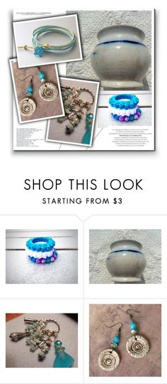 """""""Blue Waves"""" by oxysfinecrafts ❤ liked on Polyvore"""