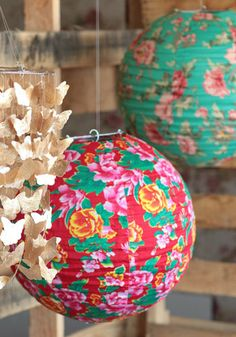 Floral World Lantern at Threadsence. Solar Lanterns, Paper Lanterns, Luminaria Diy, Unicornios Wallpaper, Idee Diy, Chinese Lanterns, Chinese New Year, Just In Case, Floral