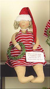 C1174 Medium Sitting Santa Babe