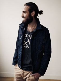 Beards and ponytails