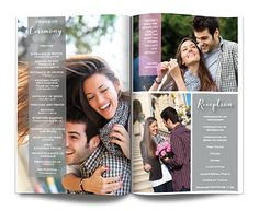 weddng magazine programs, uniqu wedding programs