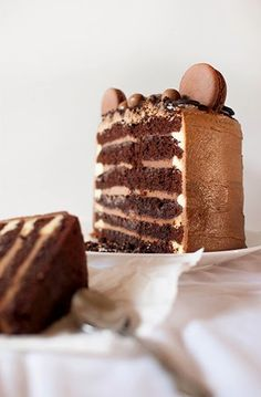triple chocolate coffee ombre cake