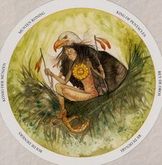 King of Pentacles - Circle of Life Tarot by Maria Distefano