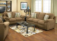 Oliver Microfibre Sofa Loveseat Chair Package