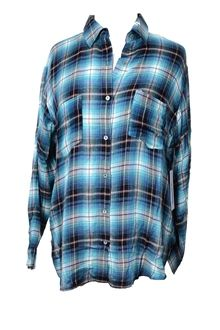 Teal Flannel Shirt b