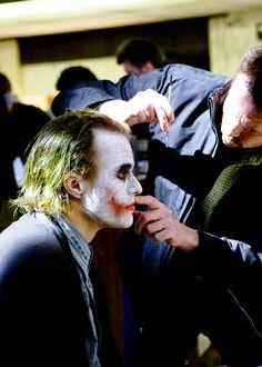 """Heath Ledger durante el rodaje de """"El Caballero Oscuro"""", 2008"""