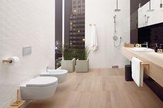 Płytki z trójwymiarową fakturą to jeden z najmodniejszych trendów łazienkowych. Zobaczcie, jak się prezentują.