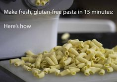With a $300 machine and the right recipe, fresh, home-made, gluten-free pasta is minutes away.