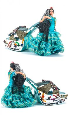 "Deko-Objekt ""Barcelona"" shoe-art by Klaus Niehaus.those are shoes. Funny Shoes, Weird Shoes, Crazy Heels, Muses Shoes, Unique Heels, Shoe Boots, Shoes Heels, Creative Shoes, How To Make Shoes"