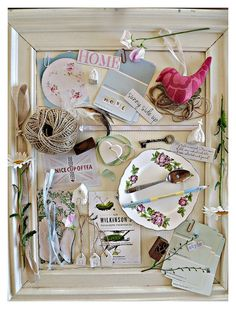 moodboard for blog jpg by featherandnest, #bywbootcamp I like the frame with found items look