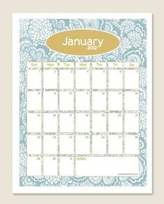 Print out a calendar instead of buy one! Save 7 pounds! Saving money one of my favorite things to do!