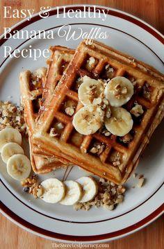 How to Make Healthy Banana Waffles | Easy Breakfast Recipe