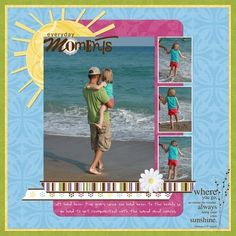 Simply Beautiful Scrapbook Page Layout Idea from Creative Memories