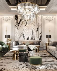 Colourful Living Room, Luxury Dining Room, Family Room Decorating, Home Interior Design, Classic Interior, Luxurious Bedrooms, Ceiling Design, Interior Inspiration, Living Room Decor