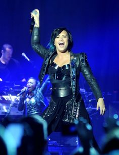 Demi Lovato performing at 3Arena in Dublin, IE.