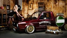 The detailers den. Pin Up October divine in the Auto Finesse detailers den with the MK1 VW Caddy - Project Caddy