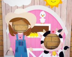Fun photo op ideas for your next celebration. Farm Animal Birthday Party Backdrop/ Photo by SweetCarolinesStudio Party Animals, Farm Animal Party, Barnyard Party, Farm Party, Cow Birthday, Farm Animal Birthday, Cowgirl Birthday, 3rd Birthday Parties, Petting Zoo Birthday Party