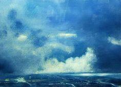 Storm Over Dublin, Oil on Panel by John O'Grady