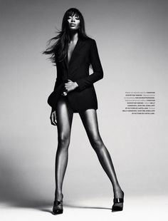 Naomi Campbell by Sebastian Kim for Numéro Russia's Debut Issue