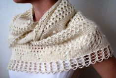 Love this shawl in the natural color.
