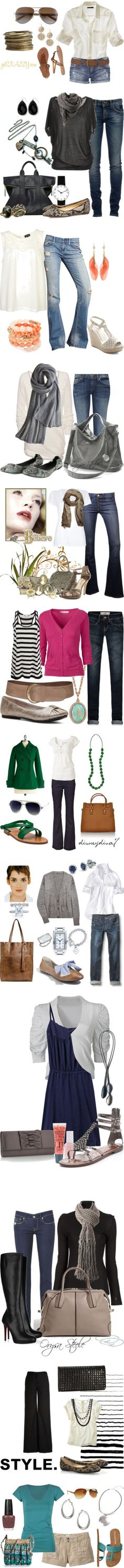 """""""Outfits from Basics - Moms of Polyvore"""" by getsnazzy ❤ liked on Polyvore"""