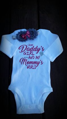 306c7c87c Set includes 1 headband and onsie. Made with glitter to make the most  adorable and