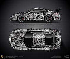 Design concept #16 Artcar Porsche 911 GT3 RS 991 Lau Lau, Megane Rs, Vehicle Wraps, Gt3 Rs, Porsche 911 Gt3, Low Rider, Car Painting, Car Wrap, Kraken