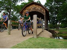 Hit the trails with Keller Parks and Recreation Keller, TX Best Places To Live, Great Places, Bike Trails, Biking, Money Magazine, Parks And Recreation, Keller Texas, The Good Place, Kids Events