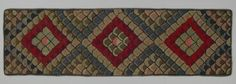 Hooked rug from Pictou County, Nova Scotia and found at the Textile Museum of Canada. The design really looks 3 dimensional.