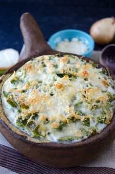 This Skinny Green Bean Casserole has no mushroom soup and was super easy to prep and delicious to eat. I mixed in extra onions and garlic, some fresh mushrooms, and a little extra parmesan- delicious!
