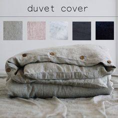DUVET COVER in 5 colors handmade from pure soft washed linen by Len.Ok SEAMLESS duvet cover MATERIAL: 100% linen COLORS:  I Natural gray - most natural linen color - gray and beige with green tone II Rose brown - very pleasant calm color between shabby brown and rose pink III Antique white - looks like vanilla, goldish white with yellow shades IV Night blue - almost black amazing deep color with sapphire shade V Chocolate brown - calm and subtle brown color with an olive shade INCLUDED: 1 x…