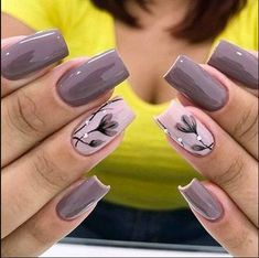 23 Super Ideas For Nails Sencillas Black : 23 Super Ideas For Nails Sencillas Black Spring Nail Art, Spring Nails, Stylish Nails, Trendy Nails, Shellac Pedicure, Best Nail Art Designs, Nagel Gel, Nail Tutorials, Cool Nail Art