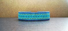 Bracelet tissage perles miyuki bleu turquoise