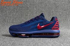 new style 335bd dc568 Nike Air Max Flair KPU High Quality Mens Running Shoes Navy Blue Red