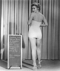 Wardrobe test 1952 We're Not Married