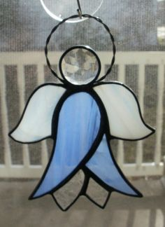 Stained Glass Jeweled Lily Flower Angel by missourijewel on Etsy, $25.00