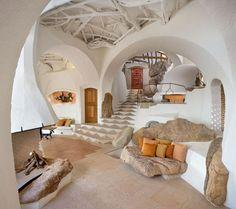 une maison qui fait grotte chez ► Moon to Moon: Richard Olsen's Handmade Houses