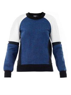 Neoprene tweedy sweatshirt | Dkny | MATCHESFASHION.COM. This is fun.