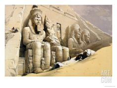 """The Great Temple of Abu Simbel, Nubia, from """"Egypt and Nubia,"""" Vol.1 Giclee Print"""