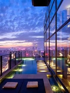 Hufft Projects- Kansas City Steve Leung Designed Penthouse with balcony swimming pool In 1997, Mr. Steve Leung established Steve Leung Desig...