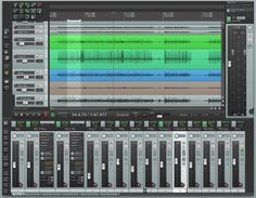 This is a screen shot of Reaper, a digital audio workstation (DAW).  I would like to have a license to use this.  I've found as I was trying this that it is much better than n-Track Studio, which I used before.  It was a lot easier to use, once I got use to the different set-up.